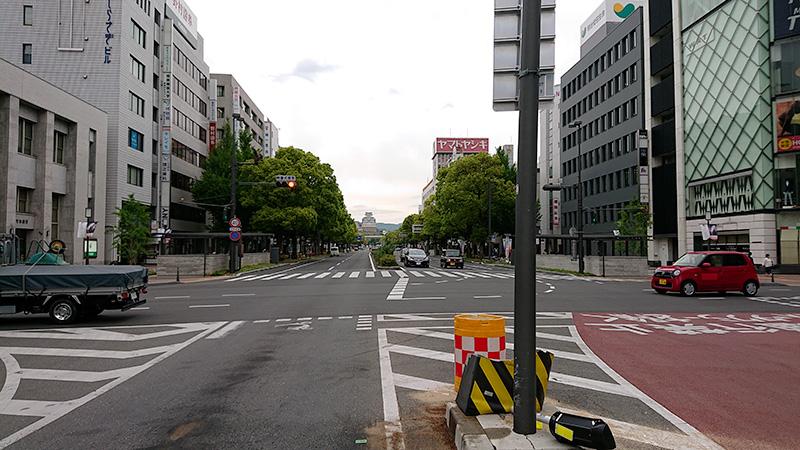 姫路駅北口から見える姫路城